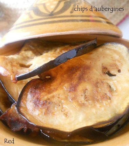 chips d'aubergines