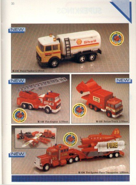 catalogue matchbox 1986 p33 refuse truck