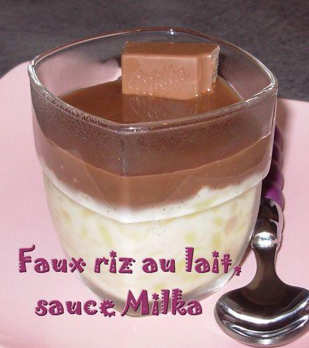 Faux riz au lait, sauce Milka2