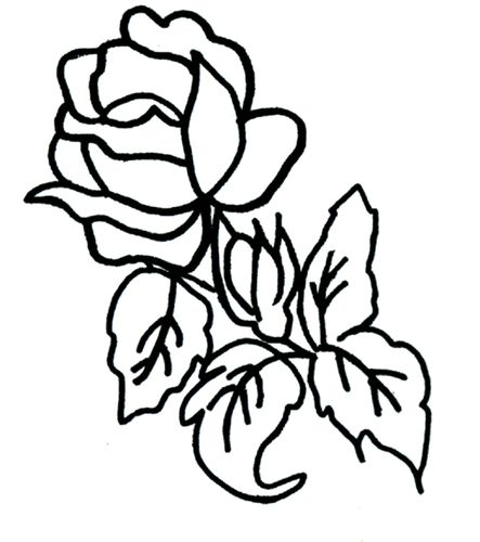 Coloriage rose le blog de ludovica - Coloriage rose ...