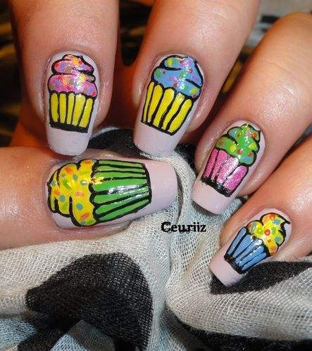 cupcakes stick & nails