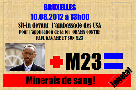 SIT-IN AMBASSADE USA MINERAIS DE SANG. 10.08.2012 13H00