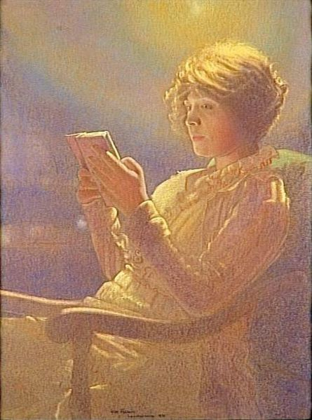Leon-Kaufmann-dit-Kamir-Woman-reading-1921.jpg