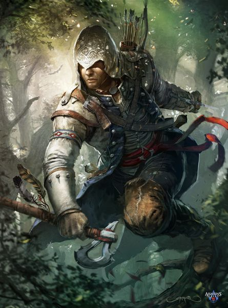 cover imaginefx n 89 assassin s creed 3 by okmer-d5hxakd