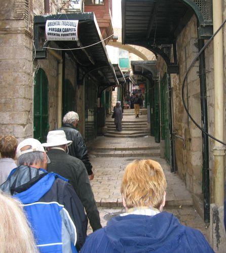 04 11 50 Jérusalem, la vieille cité, quartier catholique