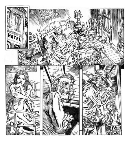 Jonah Hex Page 1 ink