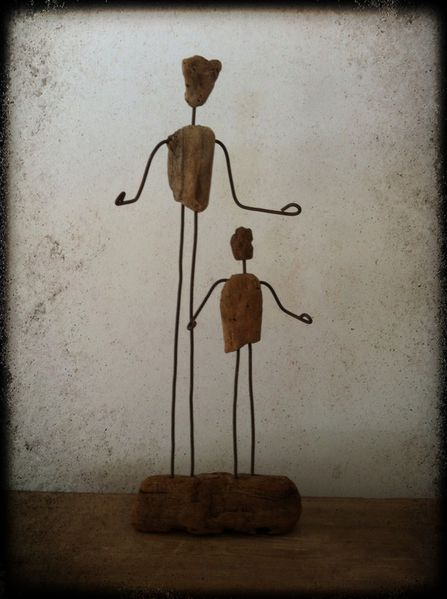 statuette, statuette récup, fait main, fil de fer-copie-2