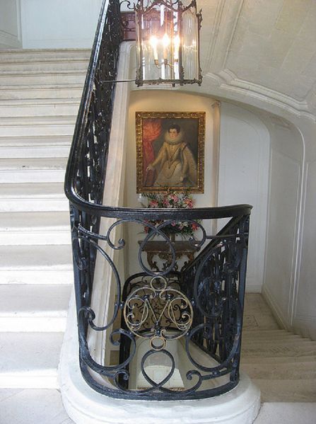 1505bs Grand Staircase, Château de Villandry