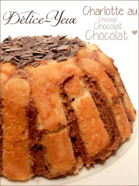 La charlotte au chocolat tupperware d lice yeux l 39 univers gourmand de marine - Charlotte au chocolat facile ...