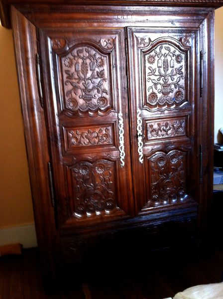 restauration armoire sculpt e en ch ne paris 75. Black Bedroom Furniture Sets. Home Design Ideas
