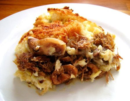 Hachis Parmentier au Confit de Canard, Champignons-copie-1