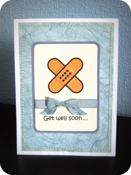 Scrap Inès Carte C&S Danie Rétablissement Get well soon p