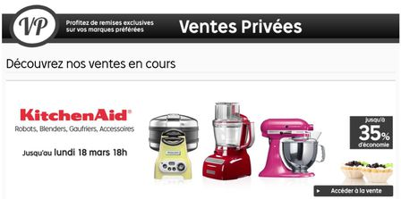 vente privee de kitchenaid en ce moment c 39 est maman qui l 39 a fait est dor navant h berg sur. Black Bedroom Furniture Sets. Home Design Ideas