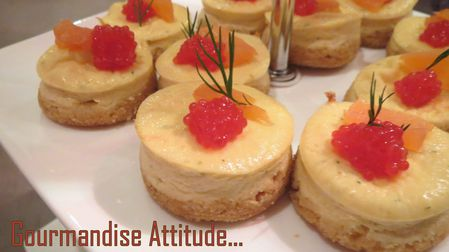 Mini cheese cake au saumon 2