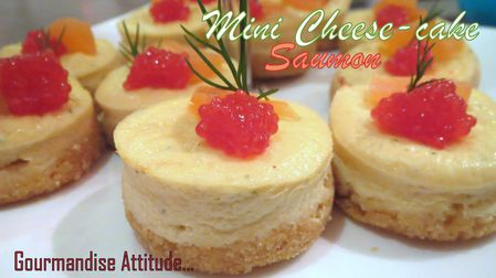 Mini cheesecake au saumon