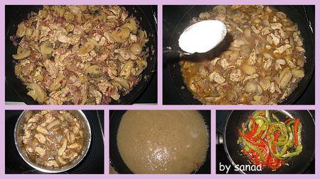 Riz a la sauce de champignons
