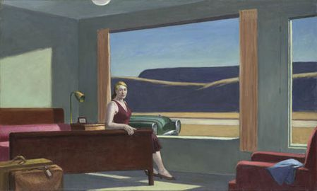 95 Attente Hopper 1957 western motel Yale art gallery