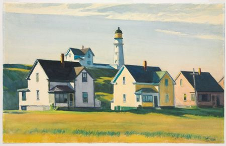 74 Phare Hopper 1929 Lighthouse Village ou Cape Elizabeth