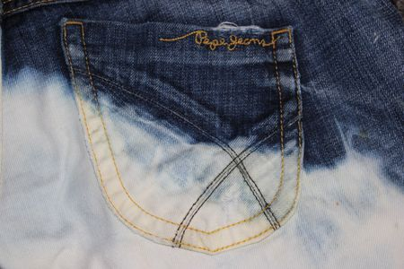 DIP DYE DENIM SHORTS 044