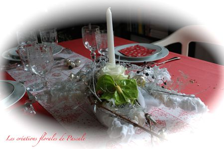 Cote table de fete r cr ation florale blog d 39 art - Centre de table pour noel a faire soi meme ...