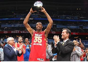 Kevin Durant MVP NBA Alle-Star Game 2012 Orlando
