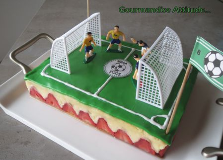 Anniversaire th me football gourmandise attitude - Decoration football pour anniversaire ...