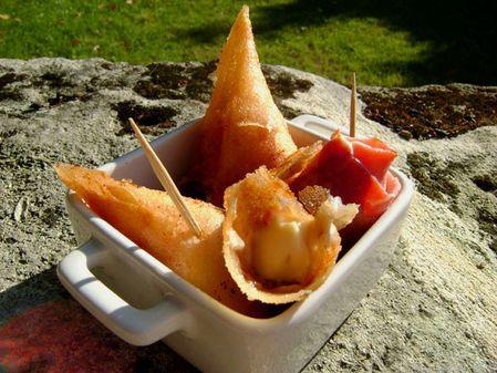 Croustillants au Jambon et au Fromage Fondu2