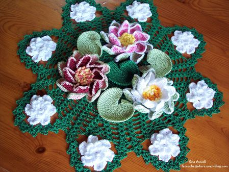 nenuphars-nympheas-crochet-Giverny-decoration-table