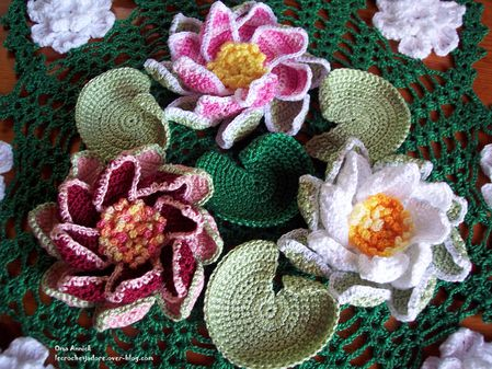 nympheas-nenuphars-crochet-Giverny-decoration-table-mariage