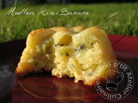 Gateau banane kiwi