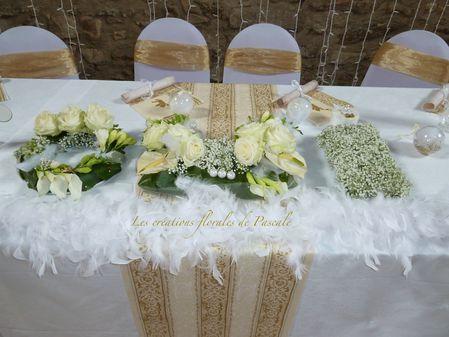 OUI centre de table des mariés