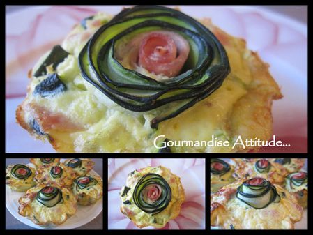 Flans courgettes multi photos