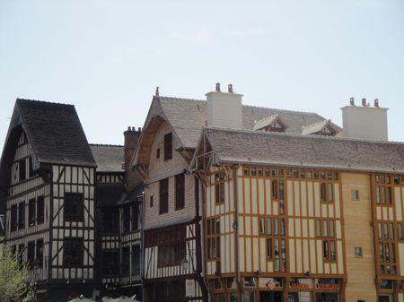 Troyes : maisons à pans de bois