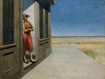 94 Attente Hopper 1955 Matin en Caroline du Sud Whitney NY