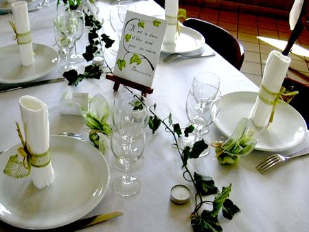 Decor de table romantic decoration - Decoration de la table ...