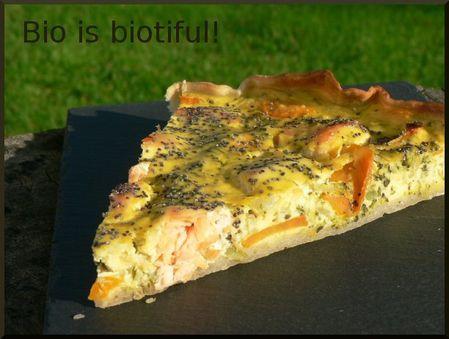 Tarte brocolis, carotte, Ricotta et saumon frais 2