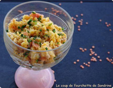 salade de la mer aux lentilles corail le coup de fourchette de sandrine. Black Bedroom Furniture Sets. Home Design Ideas