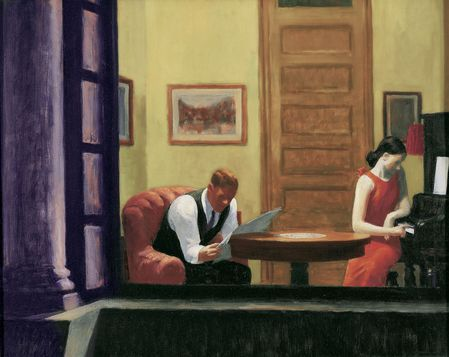 63 Lecture Hopper 1932 Chambre à New York Sheldon Art Muse