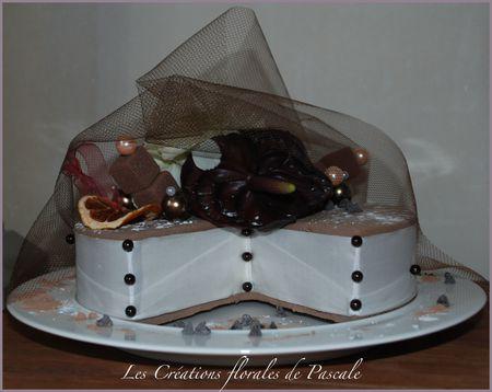 Gateau floral chocolat 31