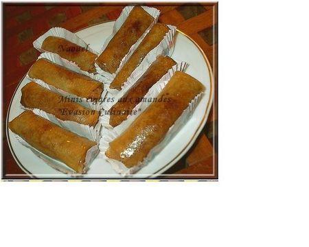 Cigares aux amandes feuilles de brick et miel