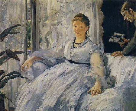 7 Suzannne & Léon Manet 1868 La lecture Léon Leenhoff & M