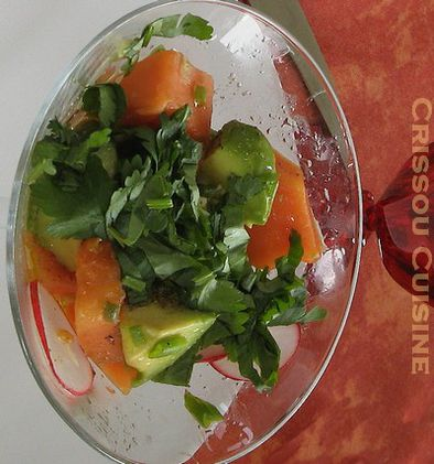 salade exotique papaye-avocat