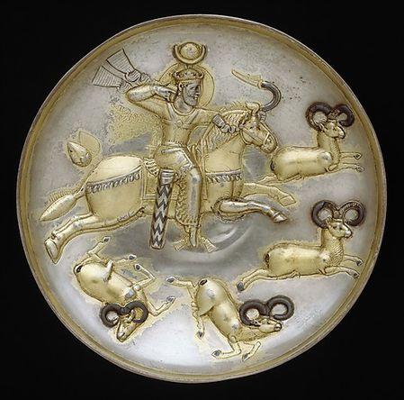 Sassanide plat en argent 3