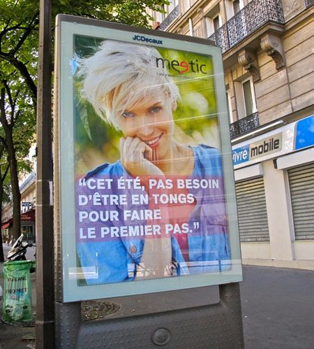 affiche Meetic tongs