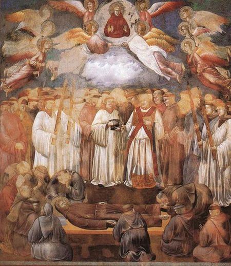 Giotto Legend of St Francis 20 Death and Ascension of St Fr