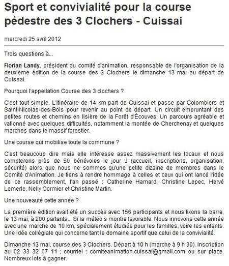 ouest france 25 avril 2012