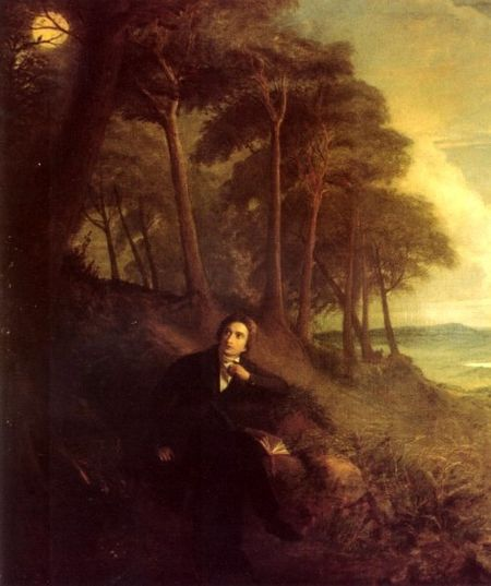 rossignol Portrait of Keats, listening to a nightingale on