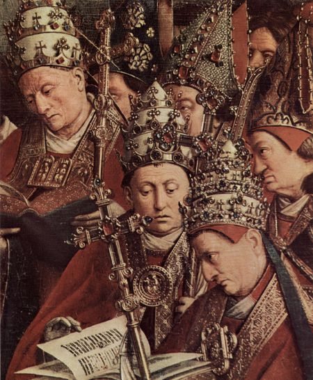 Jan van Eyck l'adoration detail