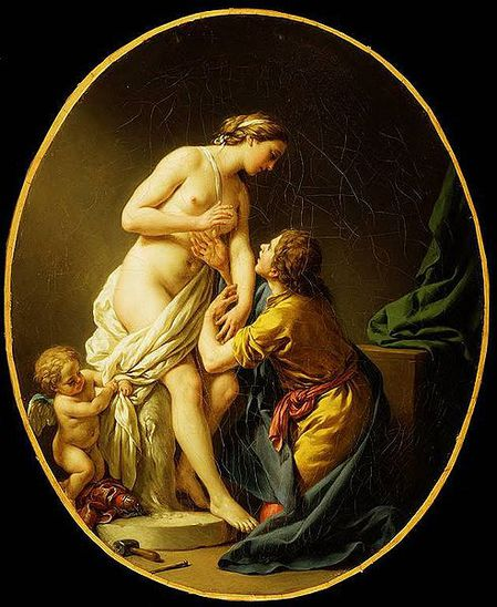 Pygmalion and Galatea Louis Jean Francois Lagrenée,