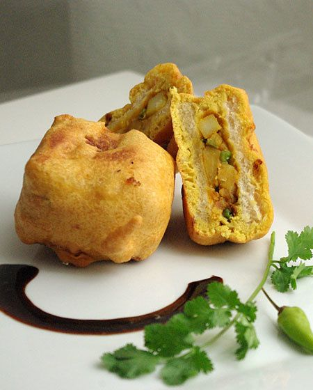 Bread pakoras indiens